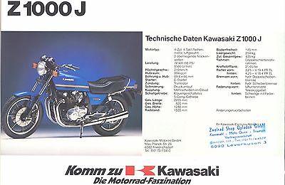 Auto & Motorrad: Teile Kawasaki 1000 Gtr Prospekt 1986 193628