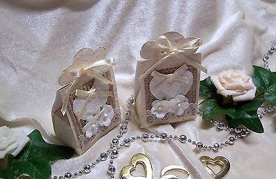 Gastgeschenk Bonboniere Hochzeit Vintage Stil Creme Vintage Modernes