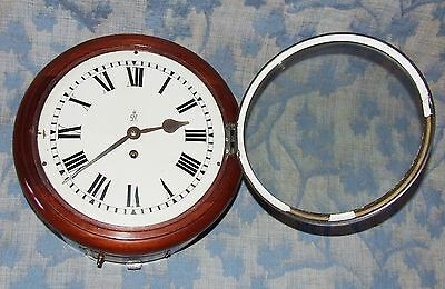 AUTHENTIC Mahogany GPO Chain Fusee Wall Clock with 10 INCH Dial 4