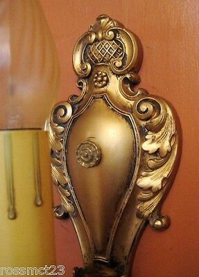 Vintage Sconces pair antique 1920s Baroque like quality sconces   Very Beautiful 2