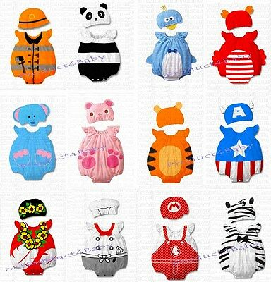 Baby Boy Girl Animal Costume Bodysuit Outfit Romper Clothes Set size 3-12 months 5