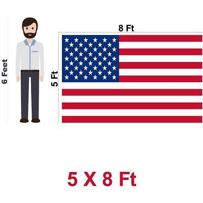 G128 – American Flag US USA | 5x8 ft | Embroidered Stars, Sewn Stripes 7