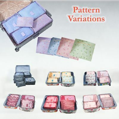 6 Pcs Clothes Underwear Socks Packing Cube Storage Travel Luggage Organizer Bag 11