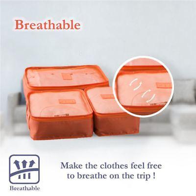 6 Pcs Clothes Underwear Socks Packing Cube Storage Travel Luggage Organizer Bag 8