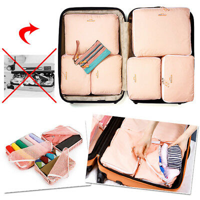 5pcs Travel Organizer Packing Cube Pouch Suitcase Clothes Storage Bags Luggage 6