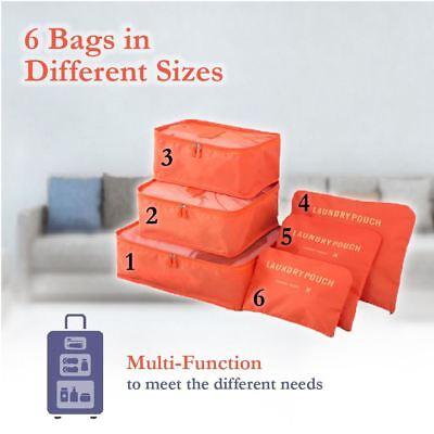 6 Pcs Clothes Underwear Socks Packing Cube Storage Travel Luggage Organizer Bag 6