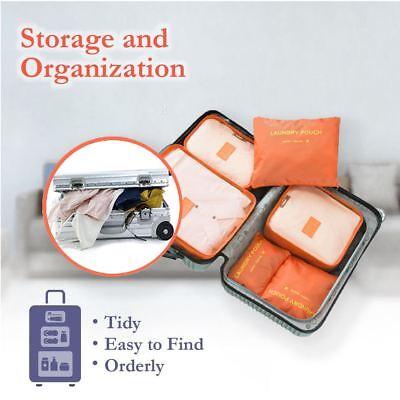 6 Pcs Clothes Underwear Socks Packing Cube Storage Travel Luggage Organizer Bag 9