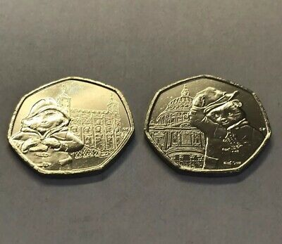 Uncirculated Set of 2 Paddington 2019 50p's: St. Paul's Cathedral & London Tower 3