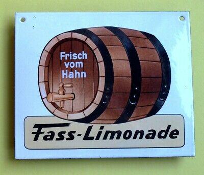 FASS LIMONADE Altes Emailschild ~ 1970 TRAUMZUSTAND Zapfhahn Brauerei Brause RAR 4