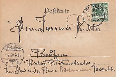 Postkarte - Reichsbanknote 1.000 Mark 2
