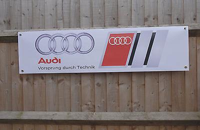 AUDI Banner Workshop Mechanics Garage Advertising pvc sign brand new