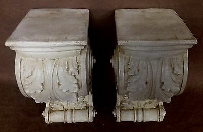 Pair Shelf Acanthus leaf Wall Corbel Sconce Bracket Architectural Accent 4
