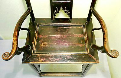 Antique Chinese High Back Arm Chairs (2721)(Pair), Circa 1800-1849 9