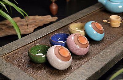 Ice crack glaze ceramic kung fu tea set service,Amethyst teapot 6 Colourful cup 3