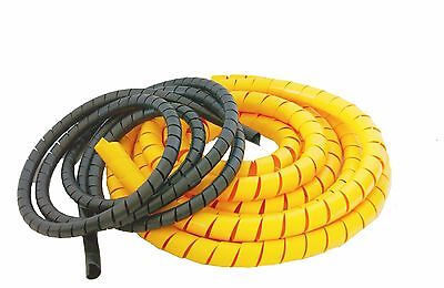 Hydraulic Hose Guard/Cable Protection/Spiral Wrap-Various Sizes & lengths Black