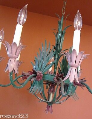 Vintage Lighting 1960s Hollywood Regency huge garden room light   Will Recolor 2