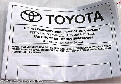 toyota hilux towbar wiring harness 7 flat wmate sr sr5 black feb 05 3 of 5 toyota hilux towbar wiring harness 7 flat wmate sr sr5 black feb 05 15