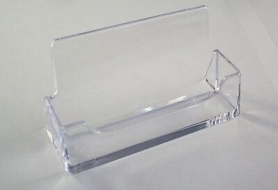 AZM 10 New Clear Desktop Business Card Holder Display Plastic Acrylic ON SALE
