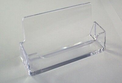 Lot of 12 clear acrylic plastic business card holder display new 1 of 4 lot of 12 clear acrylic plastic business card holder display new desktop colourmoves