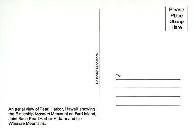 USS Missouri Battleship Memorial, Pearl Harbor Ford Island HI Hawaii  - Postcard