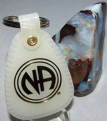 White Key Tag >> Narcotics Anonymous Na White Key Tag 1 One Year Medallion Serenity Clean