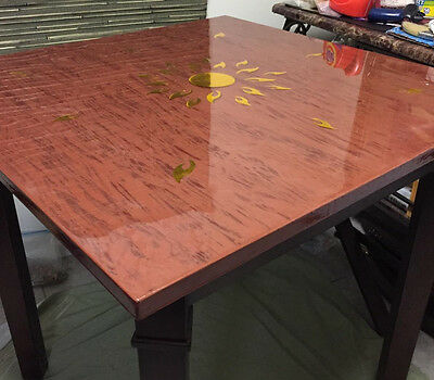 Genial 6 Of 9 Crystal Clear Bar Table Top Epoxy Resin Coating For Wood Tabletop    4 Gallon Kit