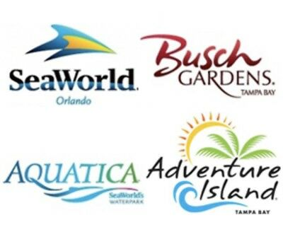 SEAWORLD ORLANDO & BUSCH GARDENS Two Park 2 VISIT Tickets  PROMO SAVINGS + MEAL 3