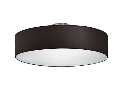 Moderne Deckenbeleuchtung Stoffschirm Rund Ø 30 cm weiß E14 extern dimmbar