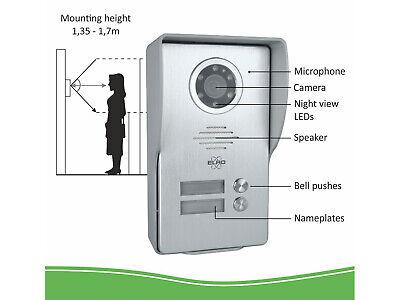 Video Klingelanlage mit Türöffnerfunktion, Gegensprechanlage Zweifamilienhaus 6
