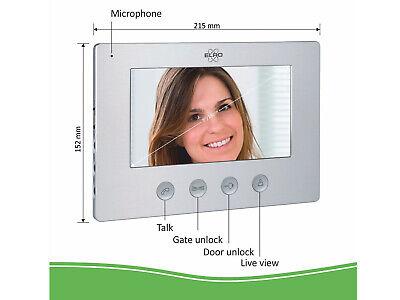 Video Türsprechanlage mit Monitor & Kamera 4-Draht Klingelanlage Einfamilienhaus 4