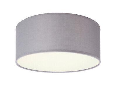 WandDeckenlampe Rund Ø40cm Stoffschirm grau Küchen
