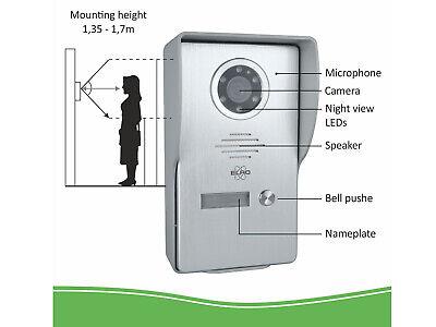 Video Türsprechanlage mit Monitor & Kamera 4-Draht Klingelanlage Einfamilienhaus 6