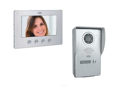 Video Türsprechanlage mit Monitor & Kamera 4-Draht Klingelanlage Einfamilienhaus 2