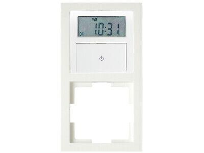 Wochenzeitschaltuhr Digital Unterputz Zeitschaltuhr + Doppel-Aufputzrahmen 2