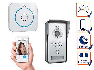 IP Sprechanlage mit Funkklingel für Smartphone, Gegensprechanlage 1 Familienhaus 2