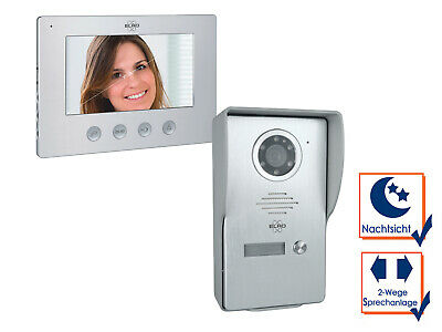 Video Türsprechanlage mit Monitor & Kamera 4-Draht Klingelanlage Einfamilienhaus 3