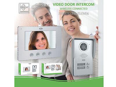 Video Türsprechanlage mit Monitor & Kamera 4-Draht Klingelanlage Einfamilienhaus 8