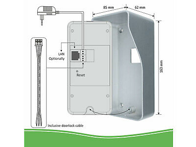 IP Sprechanlage mit Funkklingel für Smartphone, Gegensprechanlage 1 Familienhaus 5