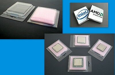 Clam shell Container for Intel Socket 1155-1156 Core I5 i7 CPU/'s Lot of 10 20