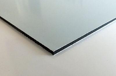Alu Dibond Platte Butlerfinish Edelstahl Gebürstet 50x40 Cm