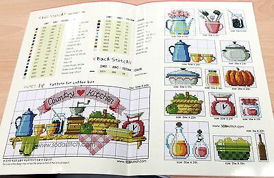 1 Of 3 Country Kitchen Counted Cross Sch Pattern Leaflet Chart Soda So