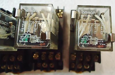 5 Omron Model# My4N 24 Vdc W/rj(Sa)Max.5A250V 21X1Yk Plug Type And Aluminum Run 2
