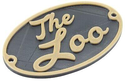 Plastic The Loo Toilet Door Hanging Sign Bathroom Restroom Plaque London England