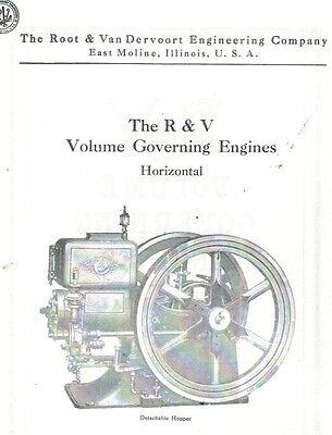 R & V Volume Governing Engine Book Gas Engine Motor Flywheel Instruction 2