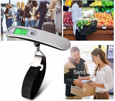 Portable Travel LCD Digital Hanging Luggage Scale Electronic Weight 110lb / 50kg 10