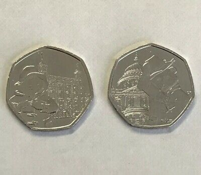 Uncirculated Set of 2 Paddington 2019 50p's: St. Paul's Cathedral & London Tower 4