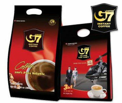 G7 Pure Black Instant Coffee 100 SACHETS Trung Nguyen Vietnamese Coffee 3