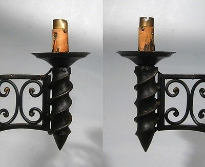 """Large Vintage French Wrought Iron Sconce, """"Chateau"""" Style, 19 x 13 inches 8"""