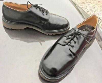 Dr Martens 1462 black leather shoes UK 10.5 EU 45.5 Made in England 2