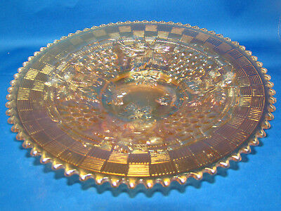 """Northwood Grape & Cable Marigold Carnival Glass 9"""" Plate @23 4"""